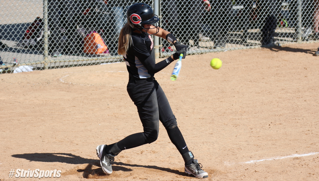 Sarah Yocom takes a swing during the 2015 State Tournament.