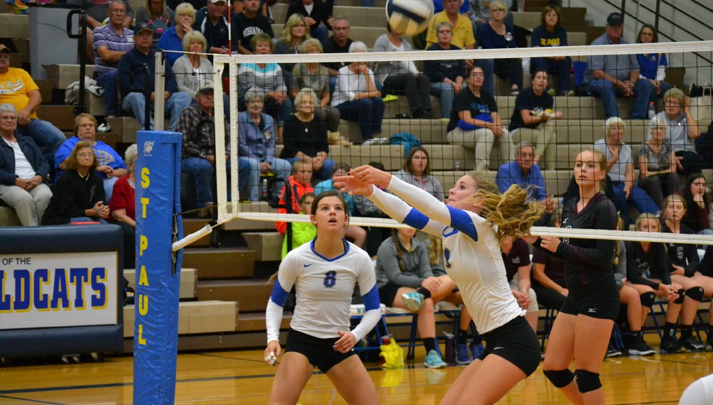 Devan Berney (8) and Claira Thede (9) in action. Photo Courtesy Terri Townsend