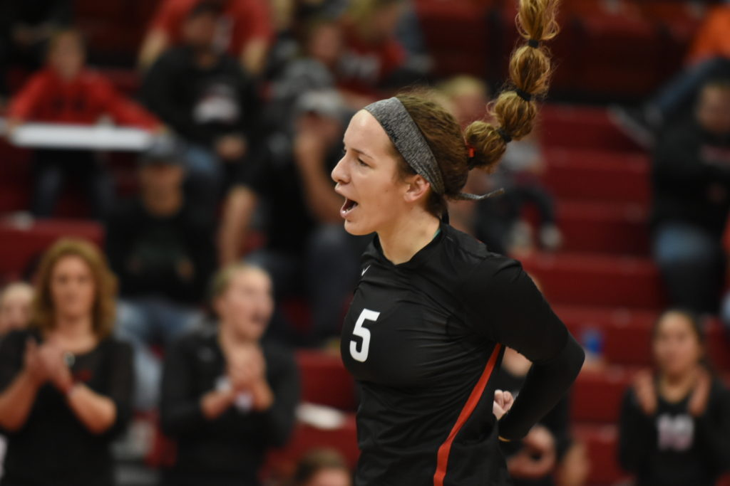 Fallon Stutheit lead Johnson-Brock with 86 kills during the state tournament.